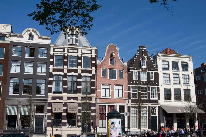 Stadsgezichten Amsterdam, gevels grachtenpanden